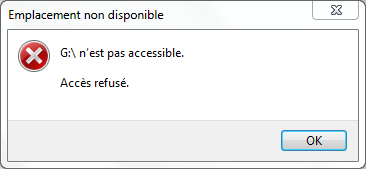 Carte SD inaccessible