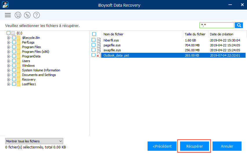 Recover deleted Outlook emails with iBoysoft Data Recovery