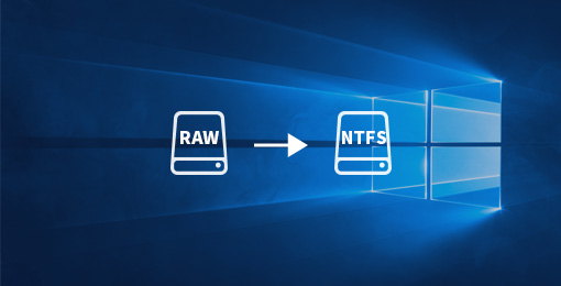 How to convert RAW drives to NTFS drives using commands