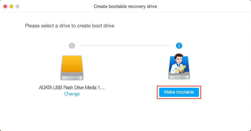 iBoysoft Data Recovery create bootable drive