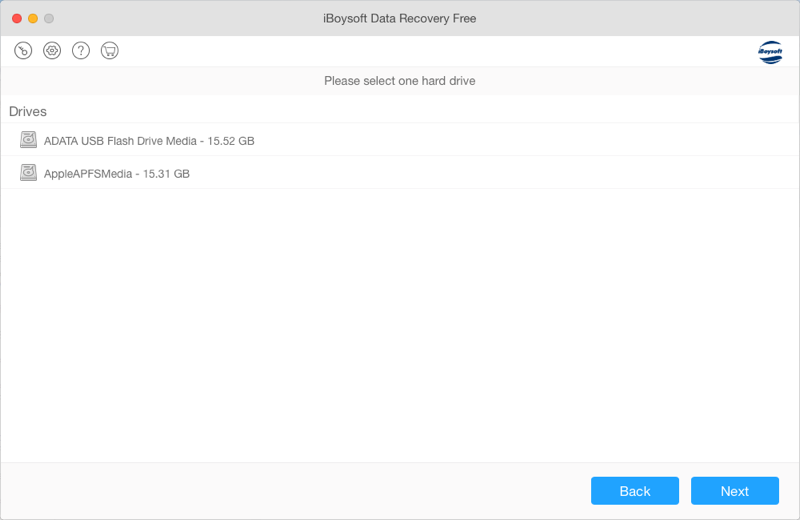 Recover lost data after encryption interrupted with iBoysoft Data Recovery for Mac