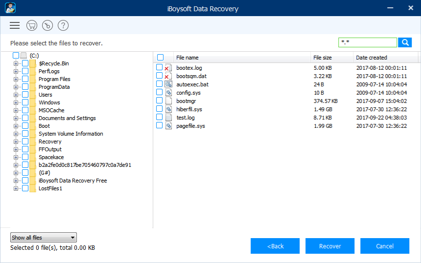 Free external hard drive data recovery software: iBoysoft Data Recovery