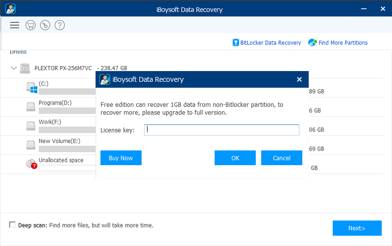 Activate iBoysoft Data Recovery