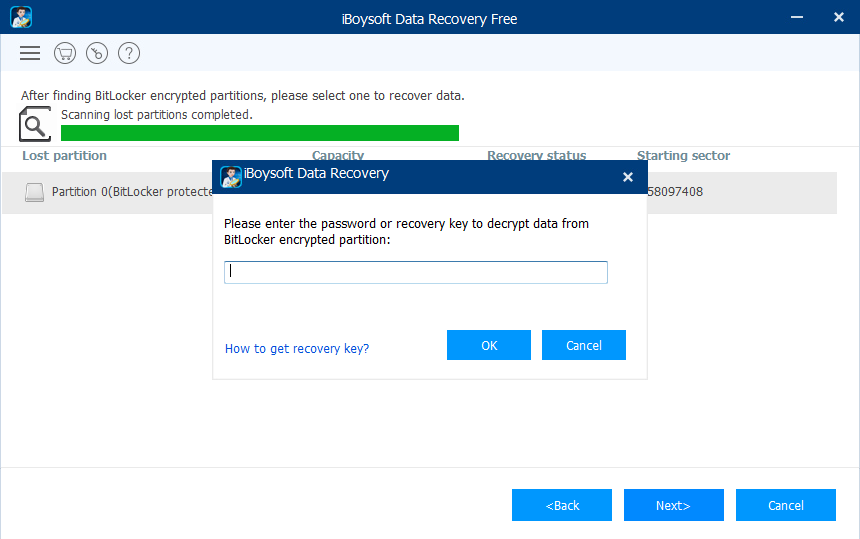 Recover data from formatted BitLocker encrypted drive