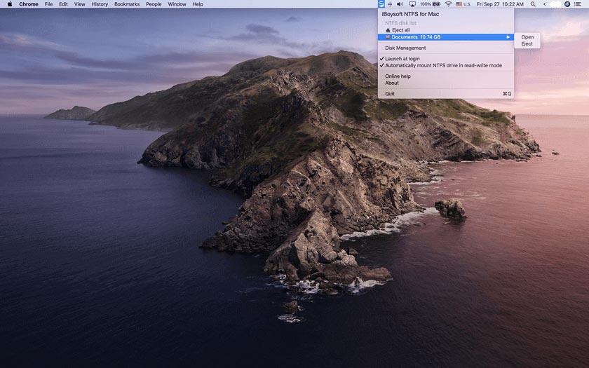 Insert NTFS drive