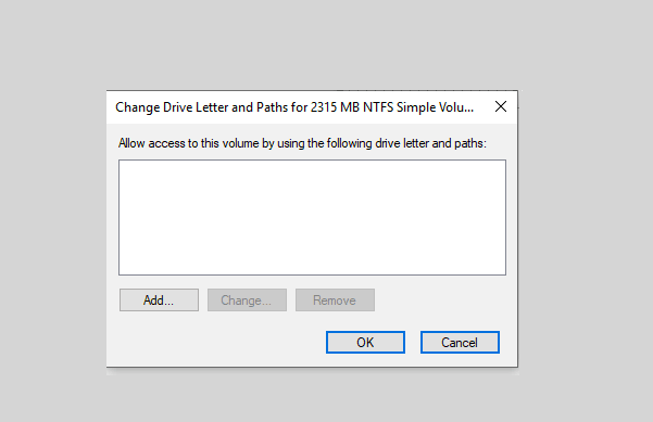 Add drive letter to the SD card in Disk Management