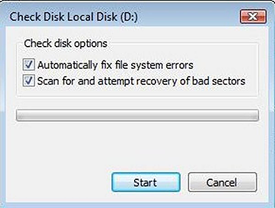 check disk in disk property