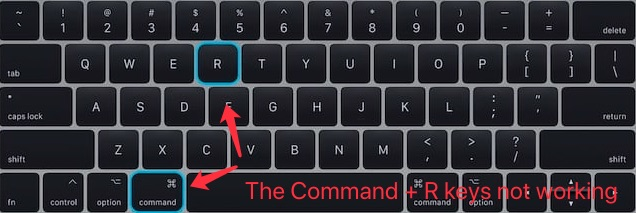 Command + R keys not working