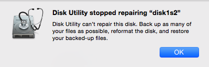 Disk Utility Cant Repair External Hard Drive
