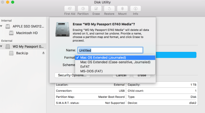 Fix WD My Passport for Mac not showing up on Mac/Finder/Disk Utility