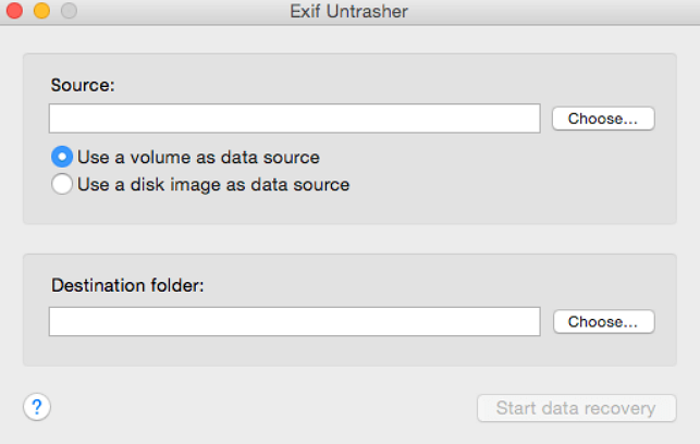 Exif Untrasher for Mac