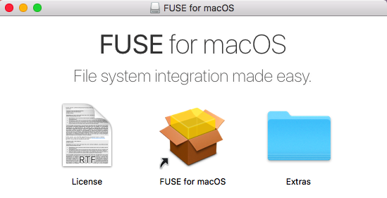 Mount external Windows NTFS volume on Mac with FUSE for macOS