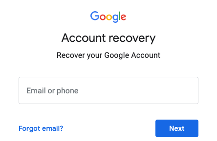 Recover deleted Gmail account through Google Account recovery