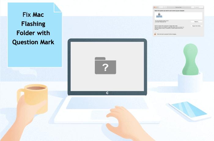 Correction du dossier clignotant Mac avec un point d'interrogation au démarrage
