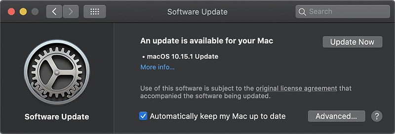 Mac update is available
