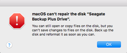 Disk Utility can't repair this disk