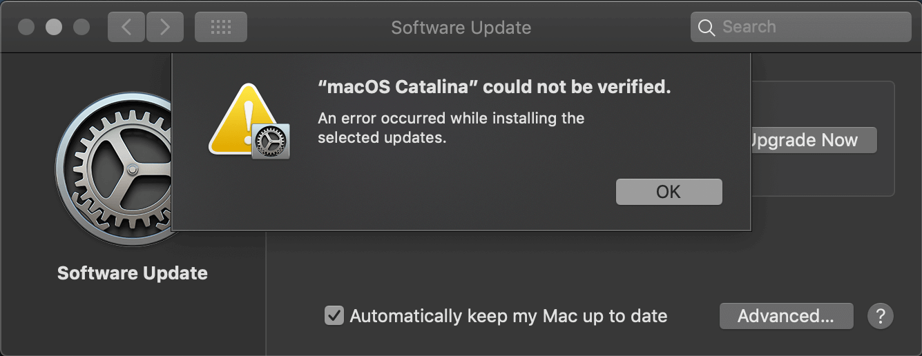 macOS Catalina could not be verified