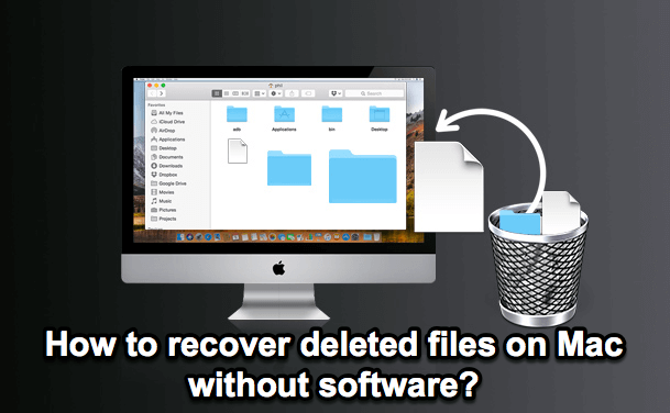 Recover deleted files without software
