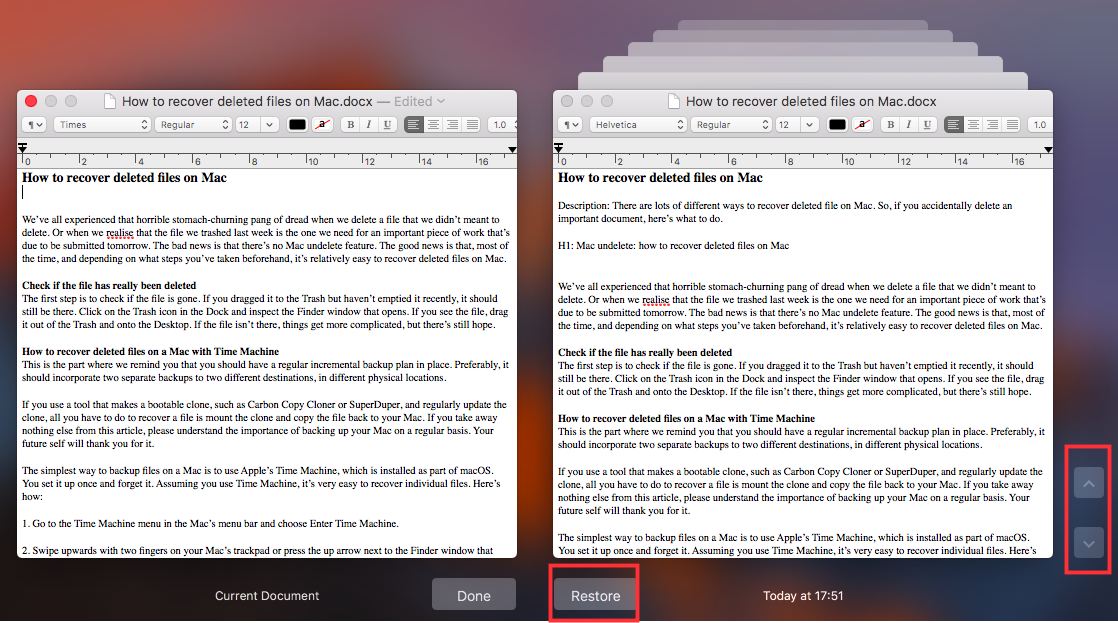 Recover deleted word documents on Mac