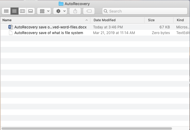 Recover unsaved Word files from autosaved files