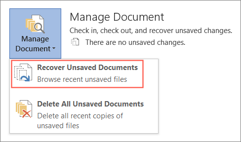 Recover unsaved  Word files from temporary files on Windows