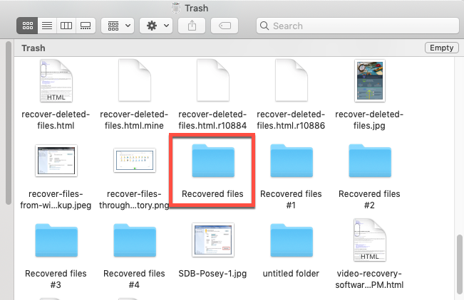 Recover unsaved or lost Word documents from Trash