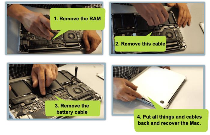 Vérifiez les connexions lorsque Mac affiche le dossier clignotant avec un point d'interrogation