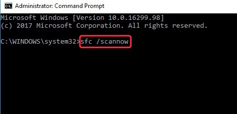 Use command sfc /scannow to repair file corruption issue