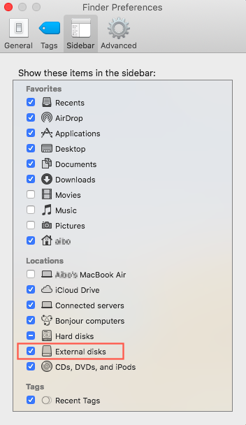 How to fix Mac doesn't recognize external hard drive on Mojave?