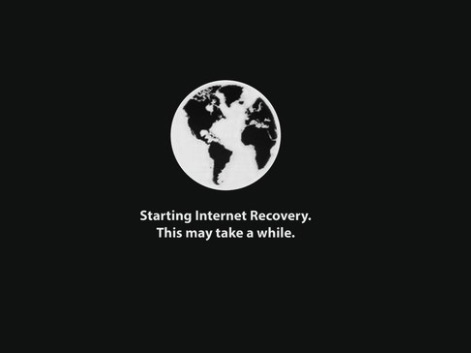 Starting Internet Recovery mode on Mac