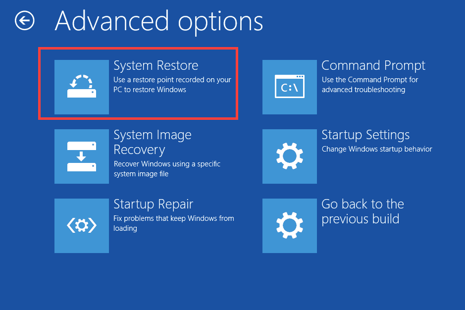 Try System Restore