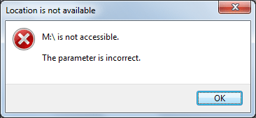 The parameter is incorrect on USB flash drive
