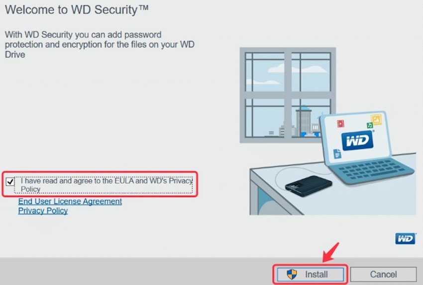 Install WD Security for Windows