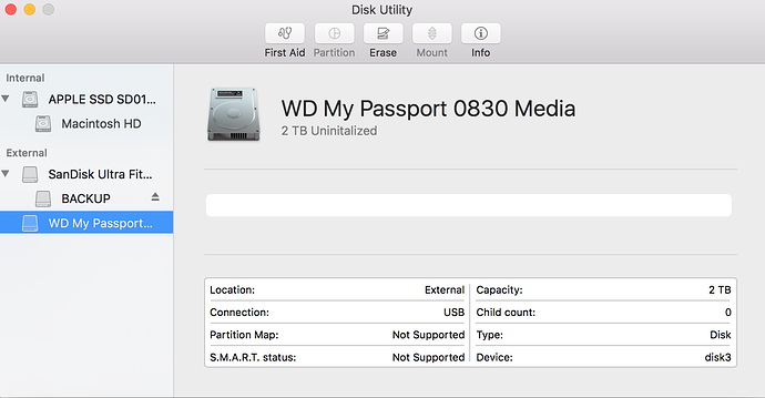 Solved] How to fix WD My Passport uninitialized on Mac?