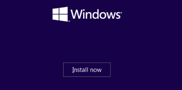 install Windows 10 now