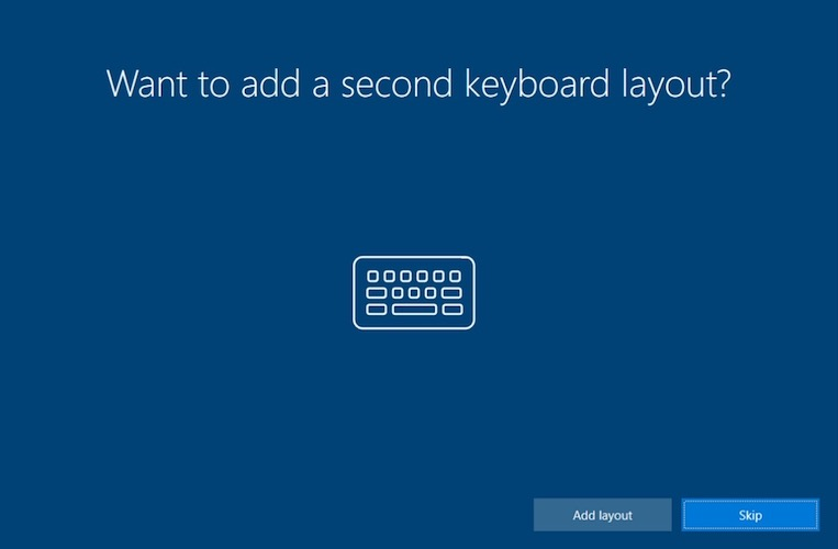 windows setup keyboard layout