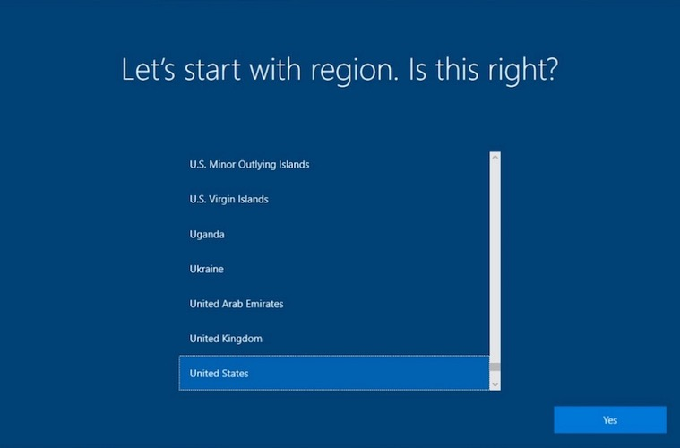 windows region set